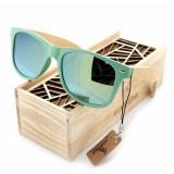 Ochelari de soare Bobo Bird, lentila verde Wooden Lux