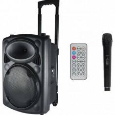 Boxa activa HOME portabila 80W Bluetooth 4 ohmi MP3 FM Telecomanda Karaoke