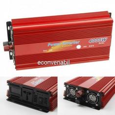 Invertor Auto 12V la 220V 4000W Constant Max.2600W Cabluri fara Clesti