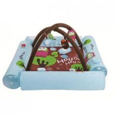 Spatiu de joaca gonflabil pentru bebelusi saltea cu arcada Bufnita Ludi