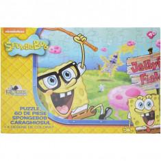 Puzzle 60 piese Coloreaza-ma Spongebob caraghiosul