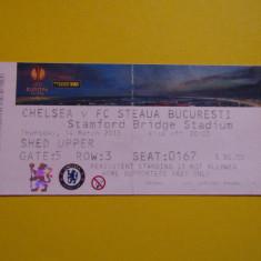 Bilet meci fotbal CHELSEA - STEAUA BUCURESTI(Europa League 14.03.2013)