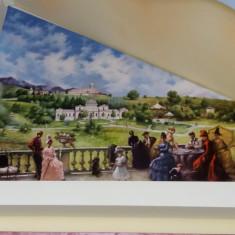 """Theodor Aman """"Pe terasa la Sinaia"""" - Reproducere, tablou pictat in ulei pe panza"""