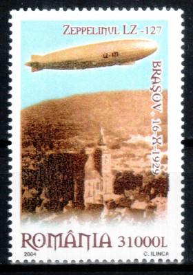 Romania 2004, LP 1652, Zeppelin deasupra Brasovului, seria, MNH! LP 6,50 lei foto