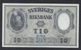 A5133 Sweden Suedia 10 kronor 1957 SEMNATURI DIFERITE aUNC