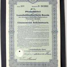 Titlu De Stat Obligatiune Germania 1937-1000-Reichsmark
