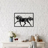 Cumpara ieftin Decoratiune pentru perete, Ocean, metal 100 procente, 70 x 50 cm, 874OCN1005, Negru