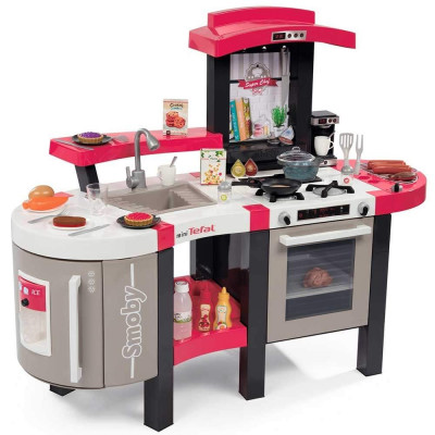 Bucatarie Smoby Tefal Super Chef Deluxe cu grill si aparat de cafea foto