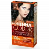 Vopsea de par permanenta fara amoniac FITO Henna Color  1.0 NEGRU, Brunet