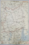 HARTA ZONEI TATARASTI - TARUTINO , LITOGRAFIE de M.D. MOLDOVEANU , 1936