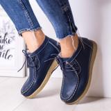 Pantofi Piele dama casual albastri Tunas