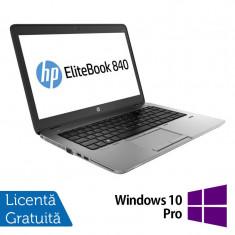 Laptop HP Elitebook 840 G2, Intel Core i5-5200U 2.20GHz, 8GB DDR3, 120GB SSD, 14 Inch + Windows 10 Pro