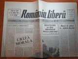 Ziarul romania libera 29-30 iulie 1990-art.la sapanta moartea nu mai este vesela