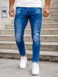 Blugi bleumarin bărbati skinny fit Bolf KX507