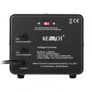 Convertor tensiune Kemot, putere 1600 W, 2000 VA