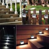 Lampa Solara, 2 LED-uri, Otel inoxidabil, pentru scari, Gard, Gradina, Perete