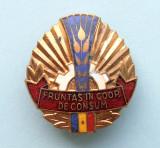 Insigna - FRUNTAS IN COOP. DE CONSUM, Romania de la 1950
