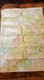 harta turistica masivul ceahlau 1982