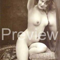 Femeie Nud Fotografie dupa veche carte postala 13 cm x 18 cm