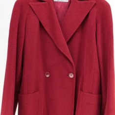 Palton Max Mara, visiniu, 50% lana pura, 50% angora