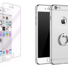 Husa telefon Iphone 7 ofera protectie 3in1 Ultrasubtire - Lux Silver S Ring
