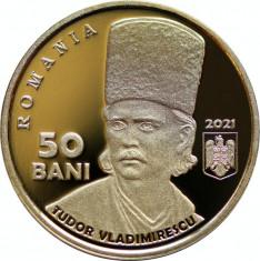 ROMANIA 2021 50 Bani TUDOR VLADIMIRESCU - 200 ani de la Revolutia din 1821 Proof foto