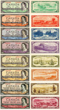 REPRODUCERI lot 8 banknote Canada1954 With Devil's face