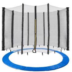 Plasa de siguranță trambulina + acoperire de margine 490 cm, 8 stalpi