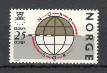 Norvegia.1988 Campanie de solidaritate intre nord si sud  KN.28