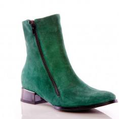 Ghete piele naturala Veronika Verde - sau Orice Culoare