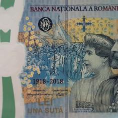 Bancnota omagiala 100 lei marea unire, seria 743, pentru cunoscatori