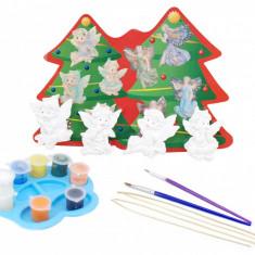 Set pentru pictat cu Ingerasi pentru decorat bradul de craciun - Jucarie creativa copii