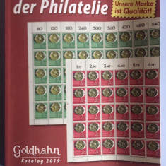 Catalog de magazin filatelic Goldhahn 2019
