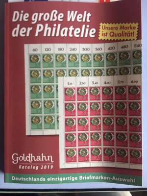 Catalog de magazin filatelic Goldhahn 2019 foto