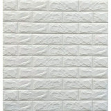 Tapet autoadeziv 3D Alb design perete modern caramida in relief pentru interior