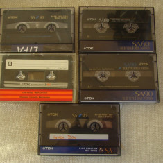 Lot 5 Casete Audio TDK (4 CrO2 si 1 normala) - Inregistrate o singura data - 14