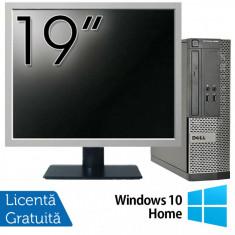 Calculator DELL 3020 SFF, Intel Core i3-4130 3.40GHz, 4GB DDR3, 500GB SATA, DVD-RW + Monitor 19 Inch + Windows 10 Home