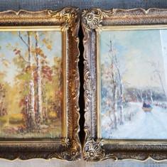 Doua tablouri vechi scoala romaneasca