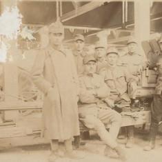 Artileristi romani si tunul fotografie Primul Razboi Mondial