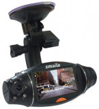 Camera video auto Smailo Street View, TFT LCD 2.7inch, GPS (Negru)