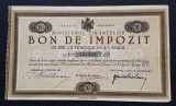 Bon de impozit 1933 semnatura Bratianu val. 500 - bon valoric