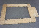 Rama veche lemn partial scluptata,rama 84cm/55 cm/2,5 cm,T.GRATUIT