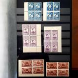 FUNDATIA REGELE MIHAI I-SCUTIT DE TAXA POSTALA-1947-BLOCURI DE 4 NESTAMPILATE