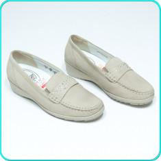 Pantofi—mocasini dama, din piele, comozi, usori, WALDLÄUFER → femei | nr. 37,5