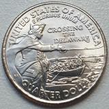 25 cents / quarter 2021 USA, Crossing the Delaware, unc, litera P sau D, America de Nord