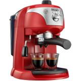 Espressor manual EC221.R, dispozitiv spumare, sistem cappuccino, 15 bar, 1 l, oprire automata, rosu, Delonghi