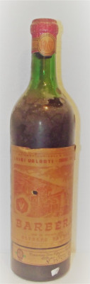 80 - vin rosu barbera oltrepò pavese recoltare 1967 cl 72 gr 12 foto