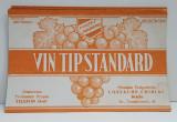 VIN TIP STANDARD , ETICHETA PENTRU STICLA , 1942