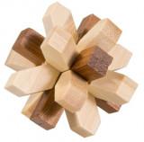 Joc logic IQ din lemn bambus in cutie metalica 321