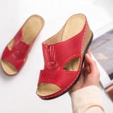 Papuci dama rosii MDL00792